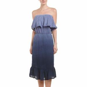 Michael Stars Blouson Midi Dress in Blue
